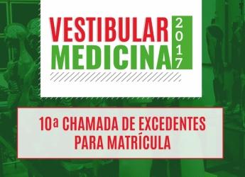 10ª Chamada de Excedentes - Curso de Medicina 2017