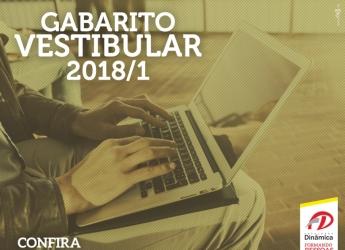 Gabarito do Vestibular 2018