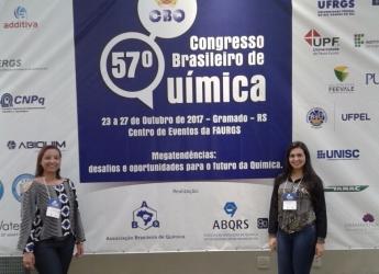 Aluna do Curso de Farmácia apresenta trabalho no 57º Congresso Brasileiro de Química