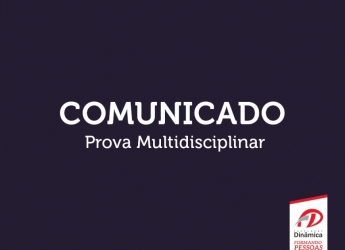 Comunicado Prova Multidisciplinar